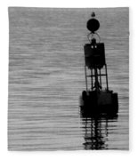 Seagull And Buoy Fleece Blanket