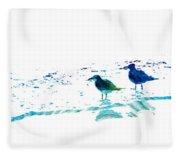 Seagull Art - On The Shore - By Sharon Cummings Fleece Blanket