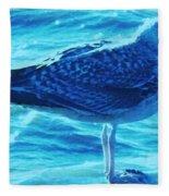 Seagull Basking In The Sun Fleece Blanket