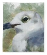 Seagull Closeup Fleece Blanket