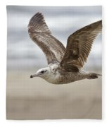 Seagull In Flight Fleece Blanket