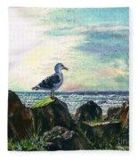 Seagull Lookout Fleece Blanket