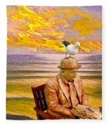 Seagull Man 6 Fleece Blanket