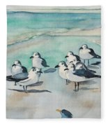 Seagull Party Fleece Blanket