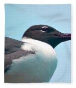 Seagull Portrait Fleece Blanket
