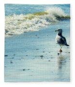Seagull Stroll Fleece Blanket