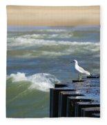 Seagull's Perch Fleece Blanket