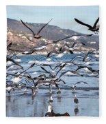 Seagulls Seagulls And More Seagulls Fleece Blanket