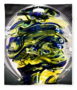 Seahawks Glass -  Solid Glass Sculpture  Fleece Blanket