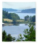 Seal Harbor Maine Fleece Blanket