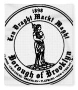 Seal Of Brooklyn Fleece Blanket