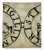 Seal Of The Knights Templar Fleece Blanket