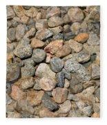 Seamless Background Gravel Stones Fleece Blanket
