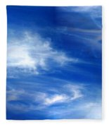 Seamless Background Sky Fleece Blanket