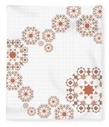 Seamless Retro Pattern Fleece Blanket