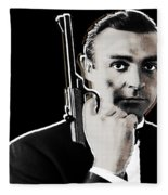 Sean Connery James Bond Square Fleece Blanket