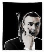 Sean Connery James Bond Vertical Fleece Blanket
