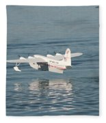 Seaplane Liftoff Fleece Blanket