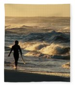 Searching For The Perfect Wave Fleece Blanket