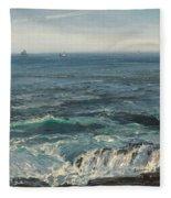 Seascape 1877 Fleece Blanket