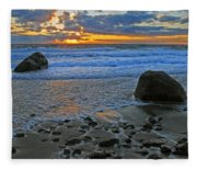 Seascape At Marthas Vineyard Fleece Blanket