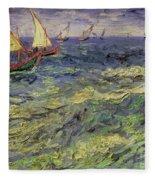Seascape At Saintes-maries 1888 Fleece Blanket