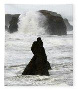 Seascape Bandon Oregon 1 Fleece Blanket