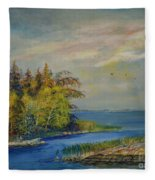Seascape From Hamina 3 Fleece Blanket