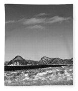 Seascape - Panorama - Black And White Fleece Blanket