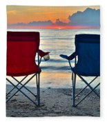 Seascape Serenity Fleece Blanket