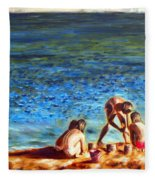 Seascape Series 3 Fleece Blanket