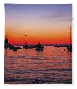 Seascape Silhouette Fleece Blanket