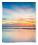 Seascape Sunset Fleece Blanket