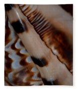 Seashell Abstract 2 Fleece Blanket