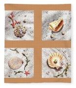 Seashell Collection II Fleece Blanket