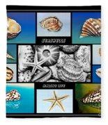 Seashell Collection Fleece Blanket