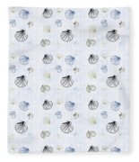 Seashell Pattern Fleece Blanket