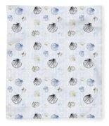 Seashell Pattern Fleece Blanket