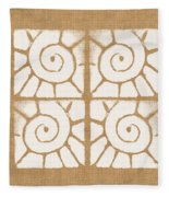 Seashell Tiles Fleece Blanket