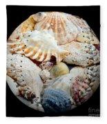 Seashells Baseball Square Fleece Blanket