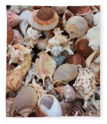 Seashells - Vertical Fleece Blanket