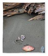 Seashells On The Seashore II Fleece Blanket