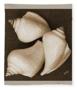 Seashells Spectacular No 4 Fleece Blanket