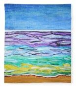 Seashore Blue Sky Fleece Blanket