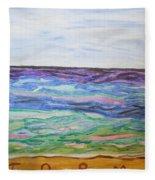 Sunny Seashore  Fleece Blanket