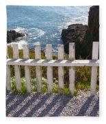 Seaside Fence Fleece Blanket