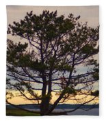 Seaside Pine Fleece Blanket