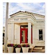Seaside Post Office Fleece Blanket