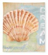 Seaside Retreat-d Fleece Blanket
