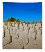 Seaside Sand Dunes Fleece Blanket